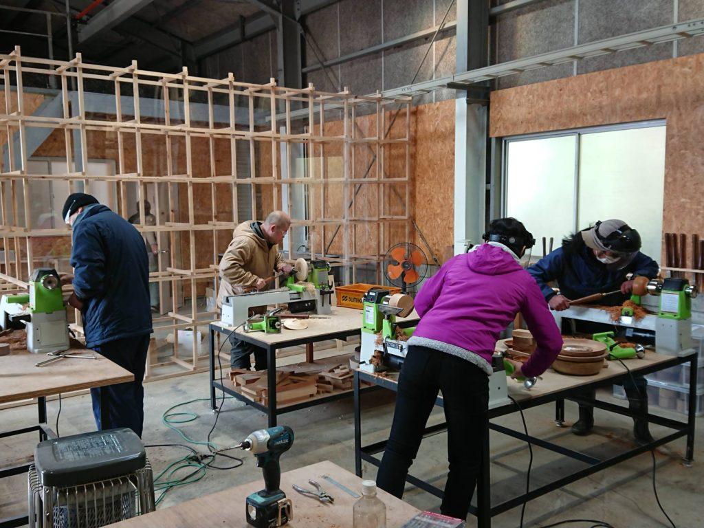 ツバキラボ 木工教室 木工旋盤