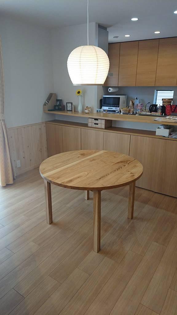 円卓 円形 テーブル DIY 自作 ツバキラボ 木工