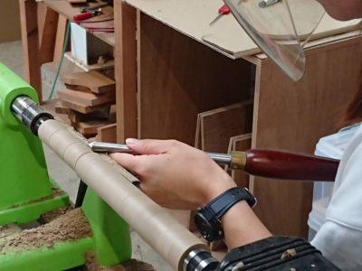 夏の木工旋盤レッスンがはじまりました!