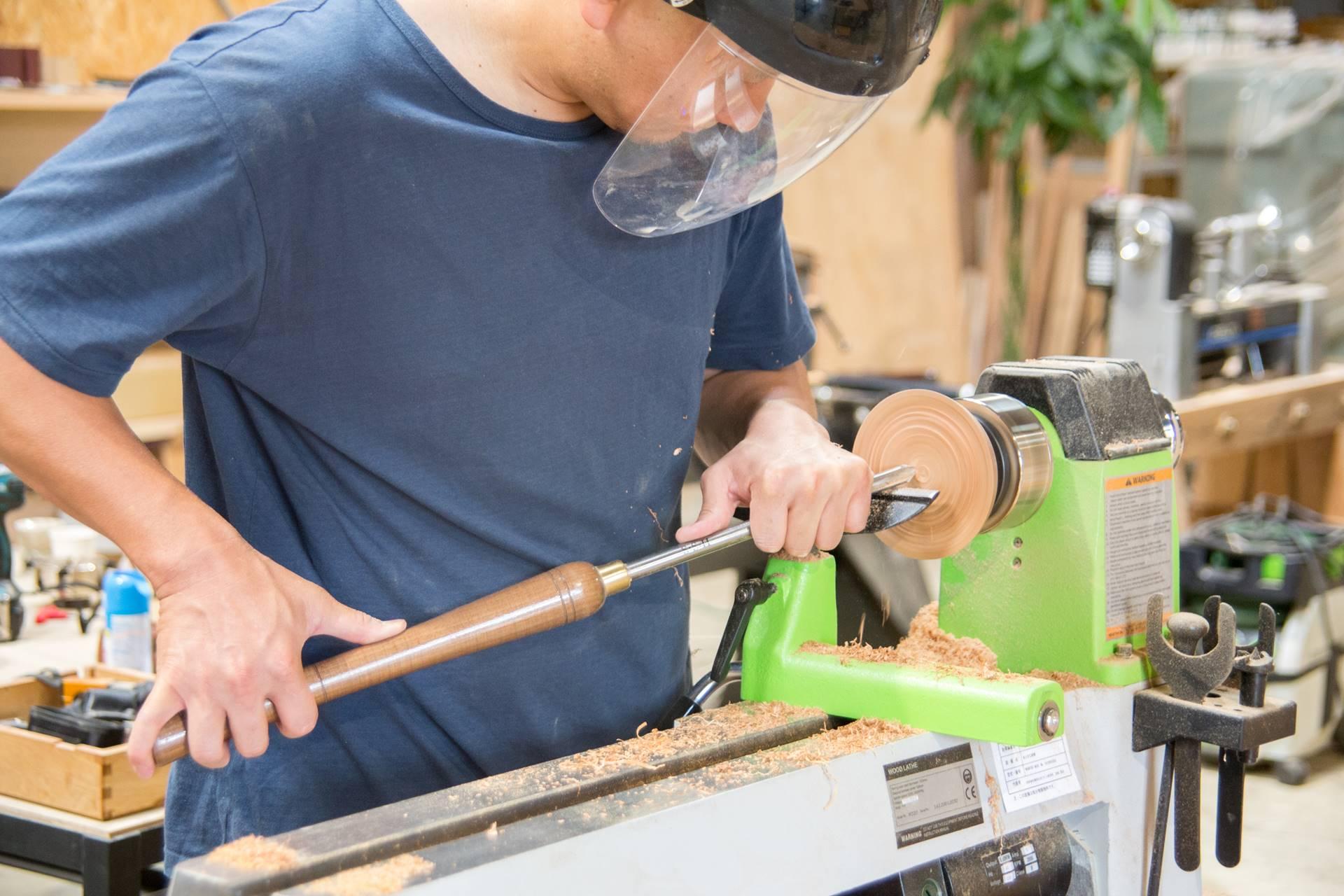 ツバキラボ 木工 DIY レッスン 木工旋盤