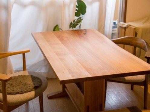 山桜 ダイニングテーブル  (個人宅)