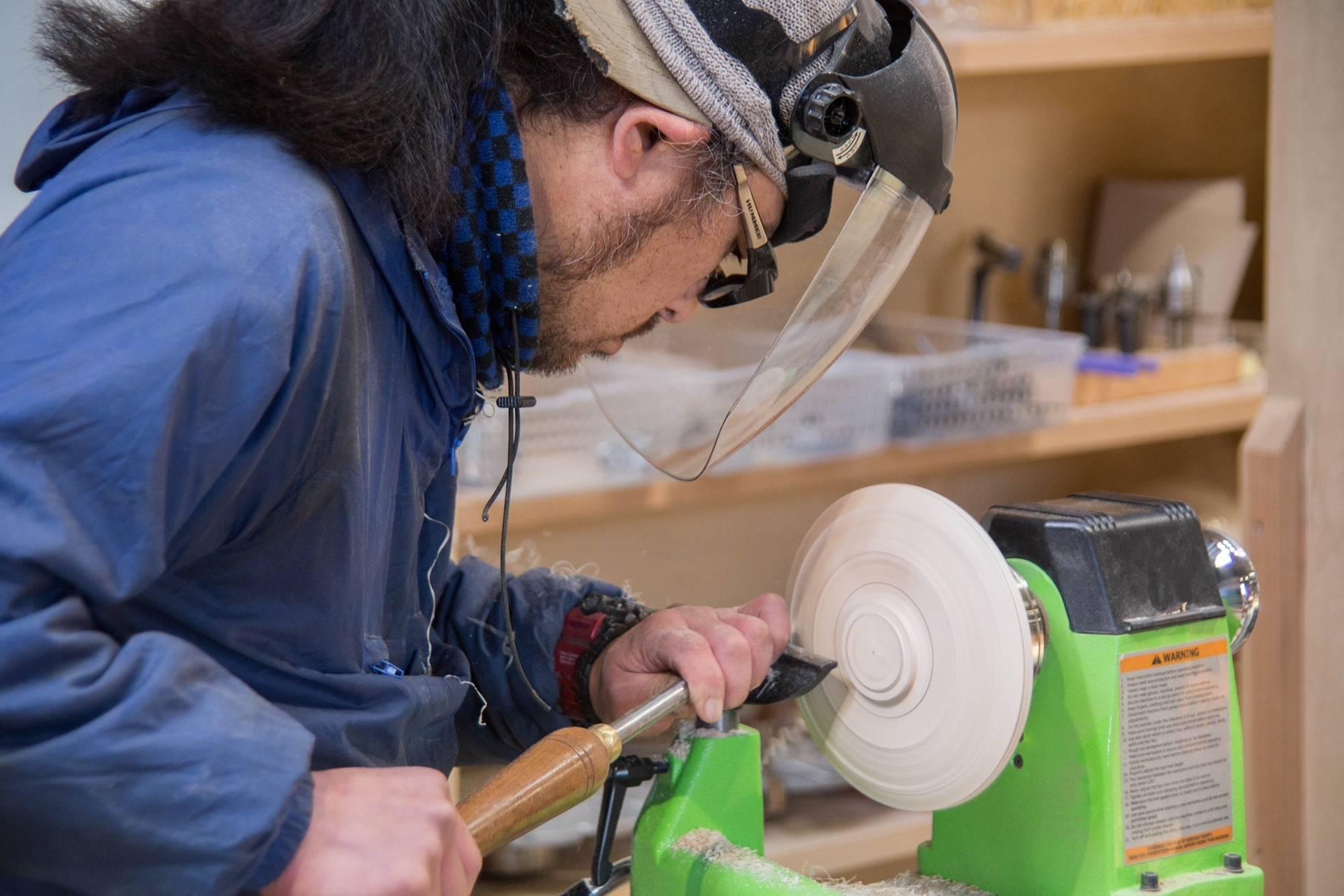 ツバキラボ 木工旋盤 教室 レッスン