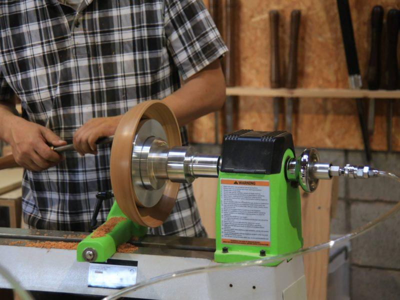 ツバキラボの木工旋盤、真空チャックが使えるようになりました!