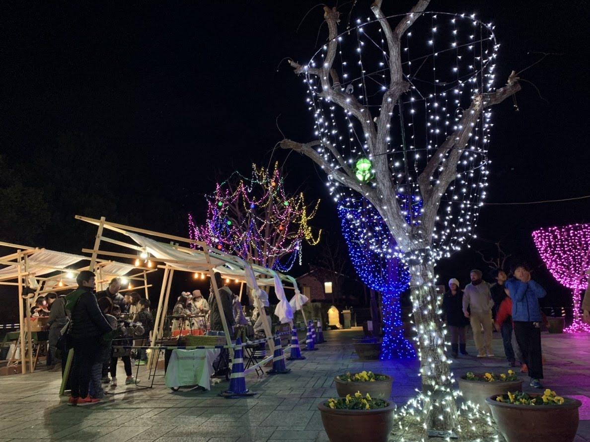 木曽三川 イルミネーション クリスマスマーケット マルシェヒュッテ