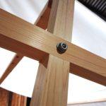 マルシェヒュッテ 木製テント タープ マルシェ クラフトフェア 木製