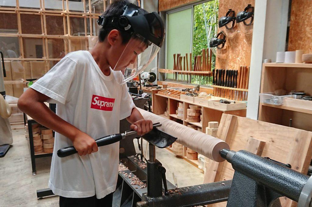 野球 バット 手作り オリジナル 木工旋盤