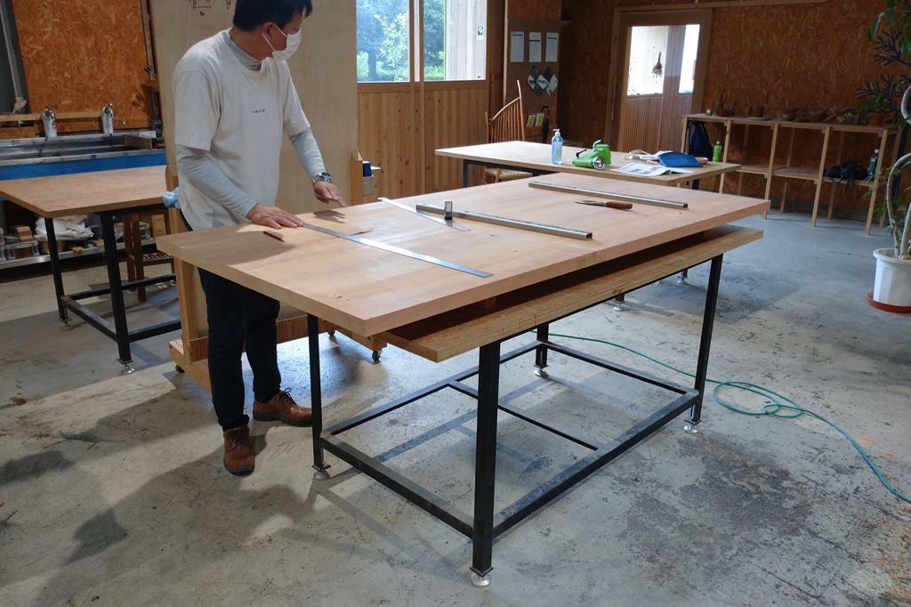 木工 木工旋盤 教室 ツバキラボ DIY テーブル
