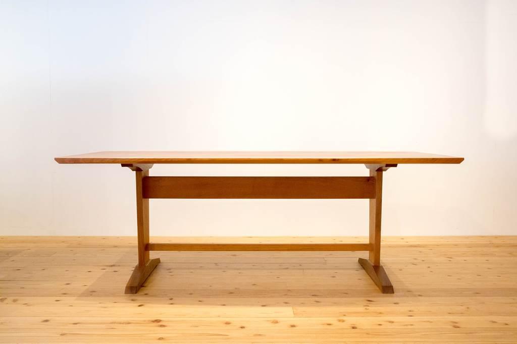 リビングテーブル ダイニングテーブル シェーカー家具 トレストルテーブル