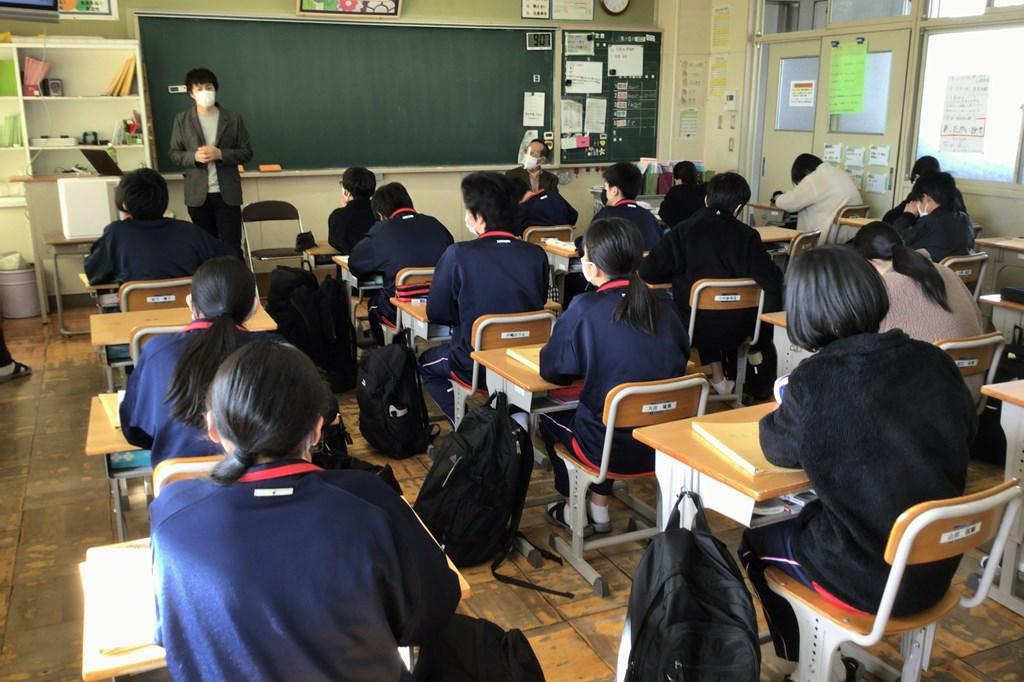 関市立小金田中学校 地域貢献 総合 地域交流会
