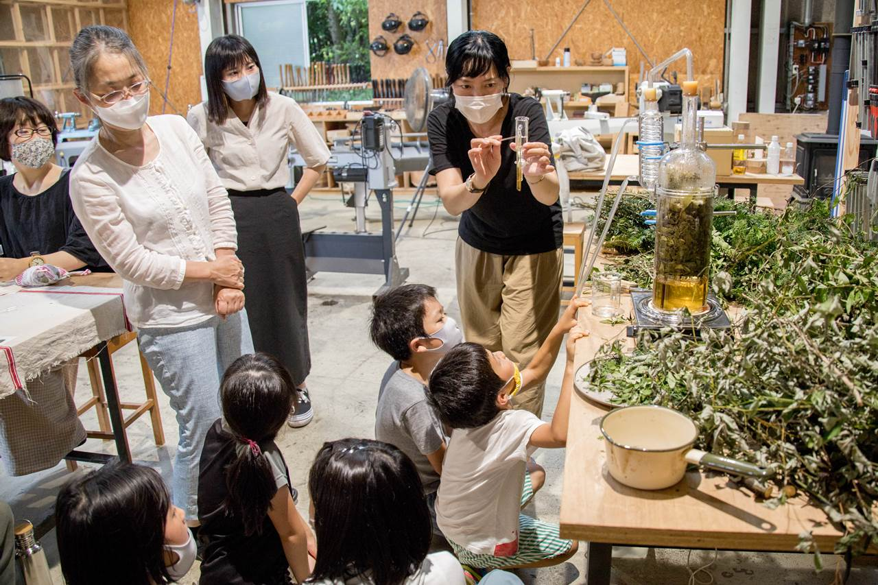 fragrance yes 山野辺 喜子 ワークショップ 植物蒸留 アロマ