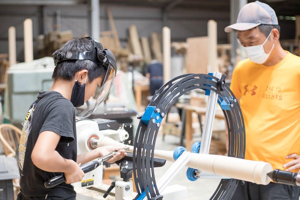 ツバキラボ 野球 バット 手作り オリジナル 木工旋盤