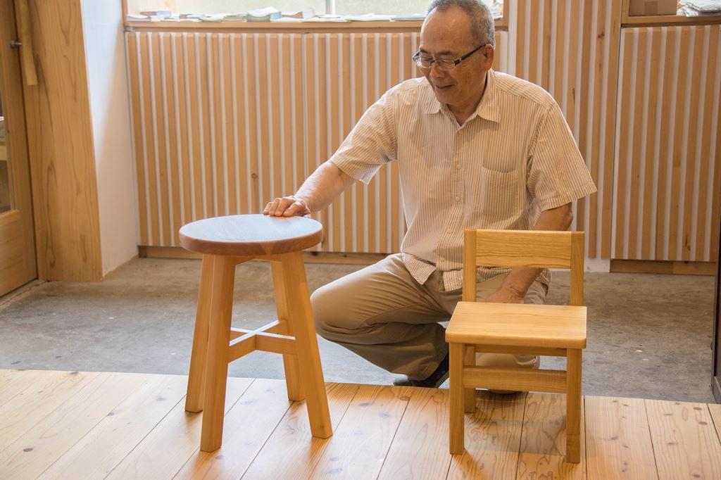 木工 木工旋盤 教室 ツバキラボ DIY 子ども椅子 キッズチェア