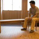 木工 木工旋盤 教室 ツバキラボ DIY クルミ ベンチ 蝶契り